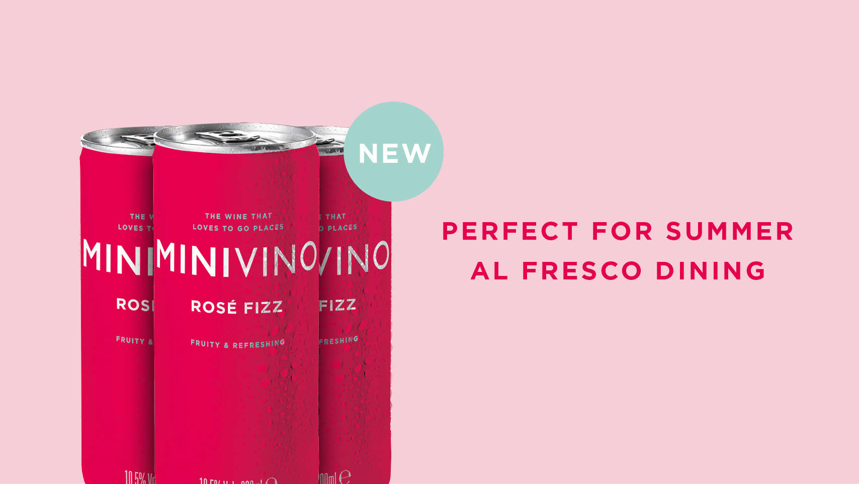 Minivino Rose Fizz can